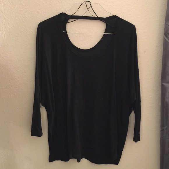Black Batwing Top Gaping back, batwing sleeves, worn but in mint condition, x-small but could fit up to a medium Cotton On Tops Tunics