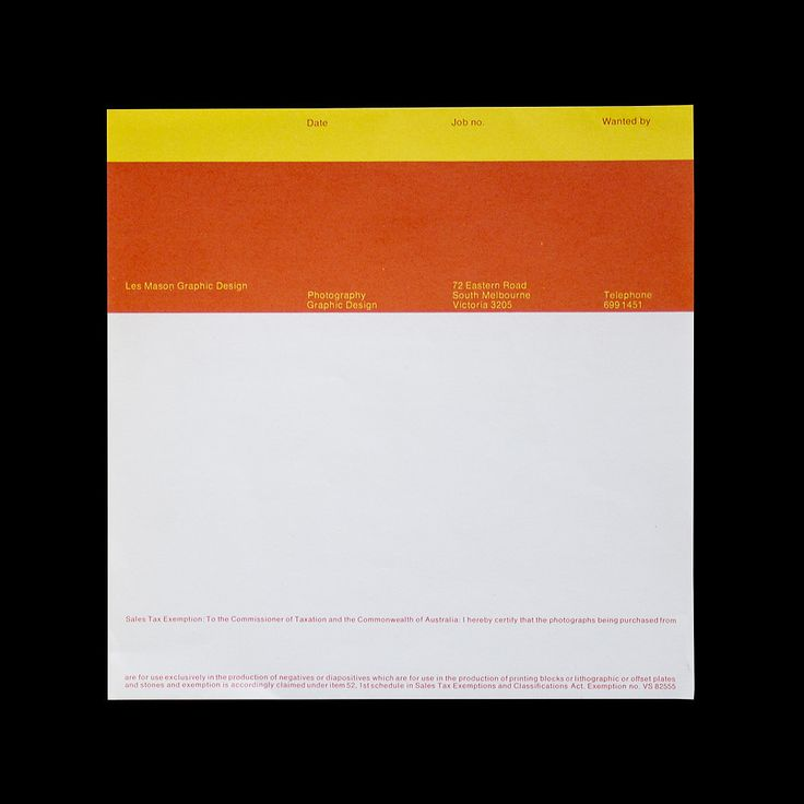 visualkultur:  Les Mason Graphic Design Order Form 1970