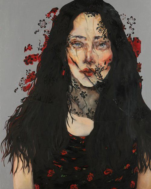 Memory's Fog by Farnaz Zabetian. Farnaz Zabetian Born in Tehran, Iran is a contemporary Iranian/American painter best known for her woman themed paintings, which depicts highly expressive female figures. I admire her ability to combine activist messages, powerful portraits, and artistic impact.