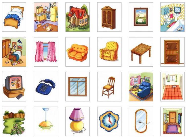 Habitaciones de la casa . Tarjetas de vocabulario aquí .