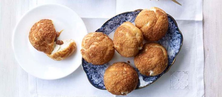 Stacey's Banoffee Craquelin Choux Buns | The Great British Bake Off