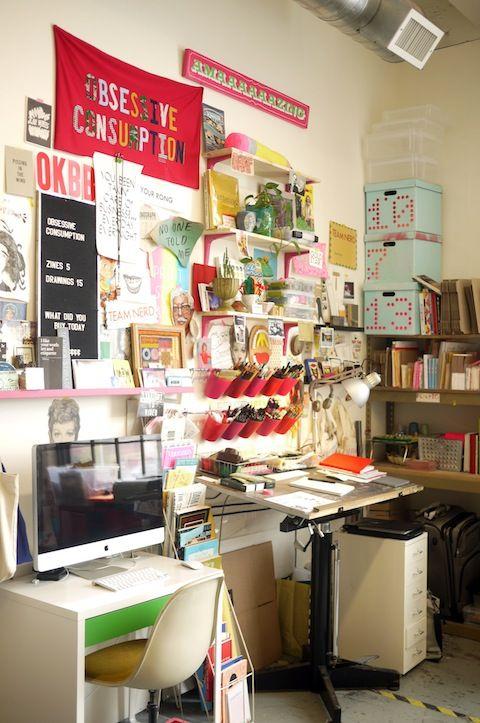 Atualização de escritório: ilustradora Kate Bingaman-Burt « Blog Herman Miller Brasil
