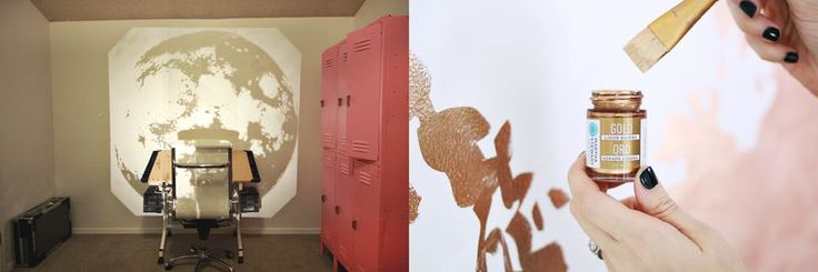 Gold Moon Wall abeautifulmess.com  How draw difficult picture