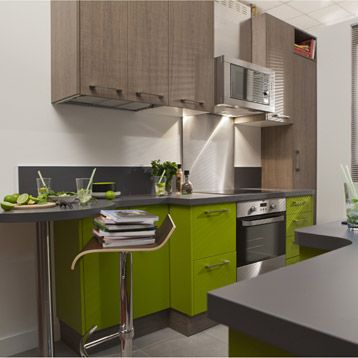 meuble de cuisine delinia composition type topaze vert vert botanique n 3 mat leroy merlin. Black Bedroom Furniture Sets. Home Design Ideas