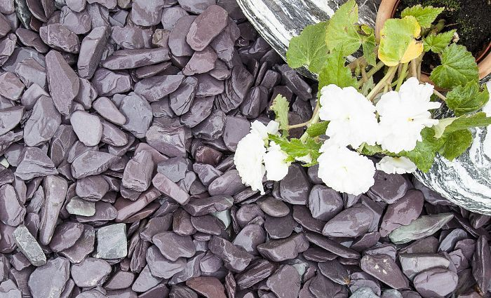 Blue Slate Chippings 40mm | Decorative Aggregates | Mulching | pathways | driveways | decorative landscaping