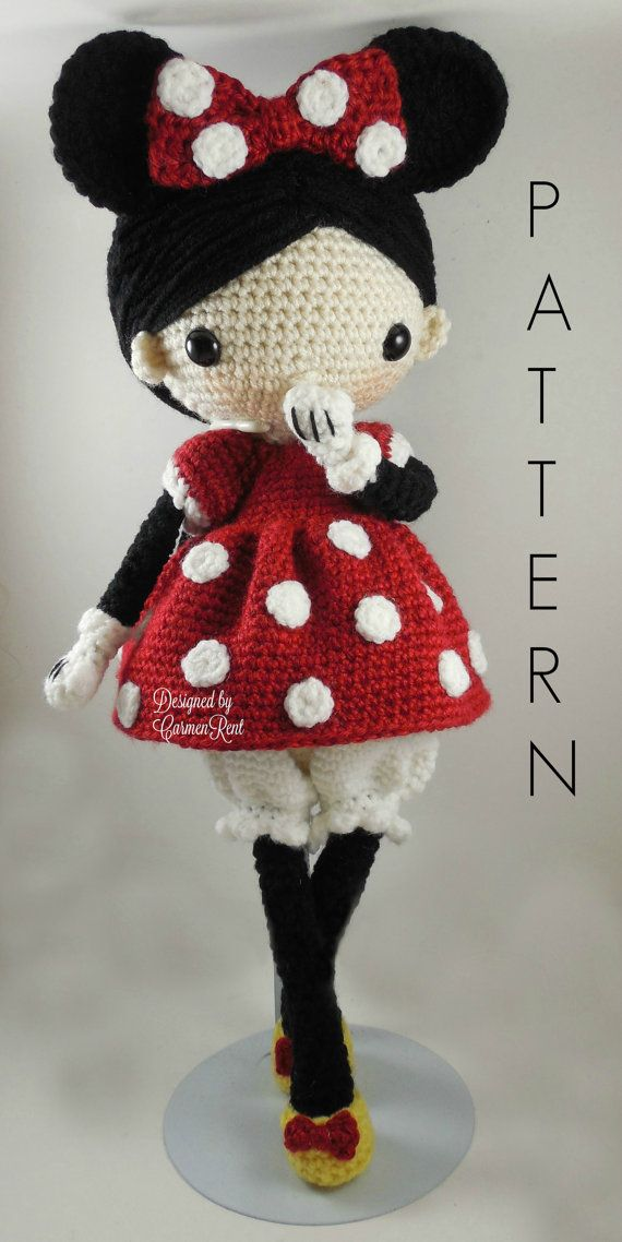 Minnie  Amigurumi Doll Crochet Pattern PDF by CarmenRent on Etsy ♡ lovely doll