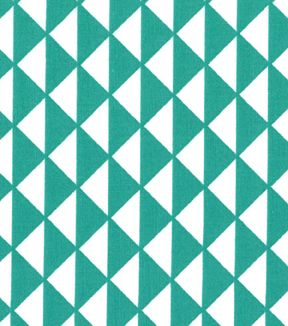 Quilter's Showcase™ Cotton Fabric-Triangles Teal/White