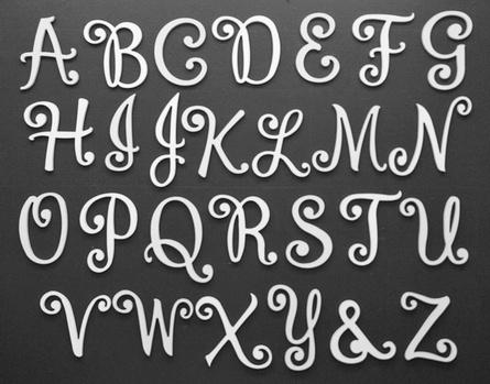 Large Cottage White Cursive Wall Letters Cursive