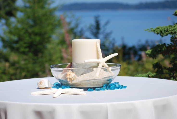 Beach centerpiece , party or wedding or just for home :)