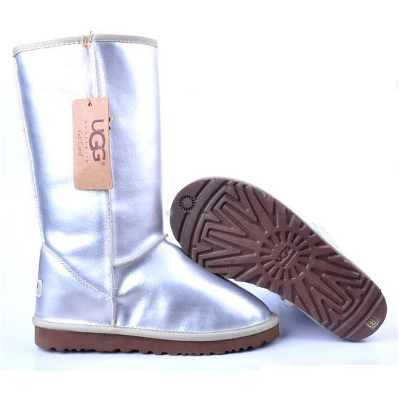 UGG Metallic Classic Tall Boots 5812 Silver  http://uggbootshub.com/classic-ugg-boots-ugg-metallic-classic-tall-boots-5812-c-58_72.html