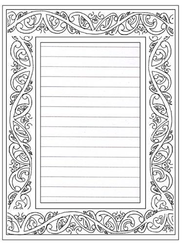 Maori Printables: Stationery | #MāoriDesign #maoriGraphics #AotearoaArt