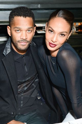 Supportive boyfriend and girlfriend: Bernard Smith and Joan Smalls
