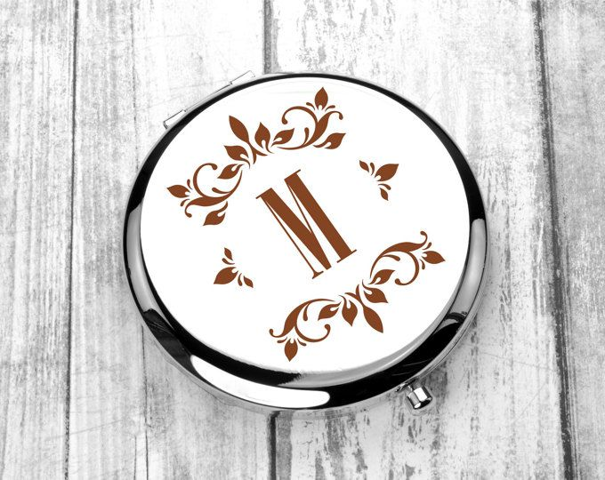 Engraved Pocket Mirror, Monogrammed Compact Mirror, Personalized Wedding Gift, Mother of the Bride, Mother of the Groom, Purse Mirror