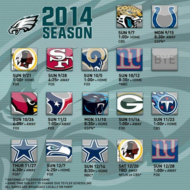 2014 Philadelphia Eagles schedule 🏈
