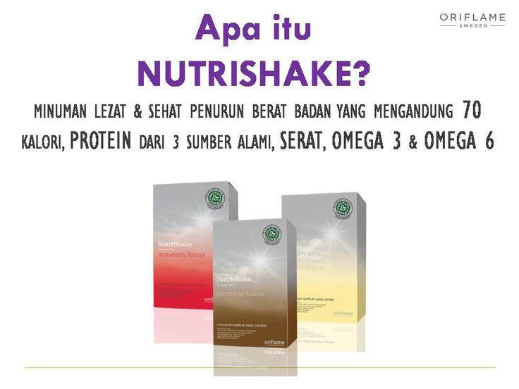 Apaan sih Nutrishake itu?? Nutrishake adalah minuman MINUMAN LEZAT & SEHAT PENURUN BERAT BADAN YANG MENGANDUNG 70 KALORI, PROTEIN DARI 3 SUMBER ALAMI, SERAT, OMEGA 3 & OMEGA 6.