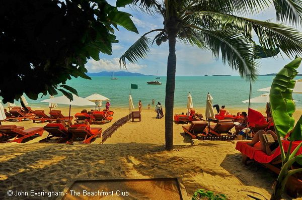 Bandara Resort, Bo Phut Beach, Koh Samui, Thailand. The beach is pretty, but little ones need to be accompanied at all times.