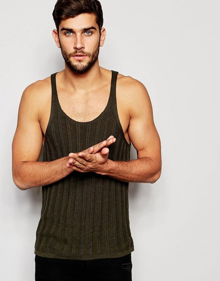 ASOS+Knitted+Vest+in+Khaki