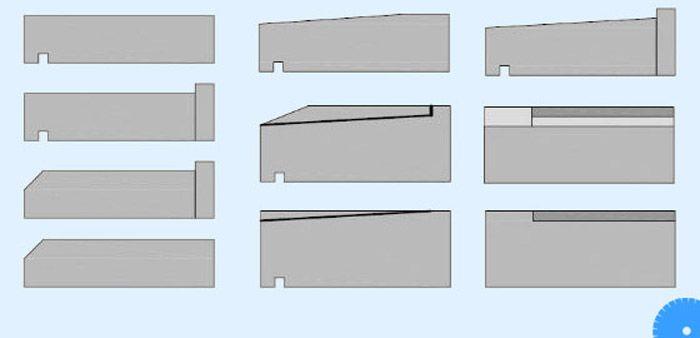 soorten vensterdorpels, alle vormen op een rij - www.eurosteen.be