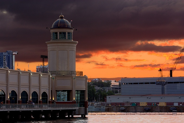 Beatiful Sunset over the harbour in Halifax NS