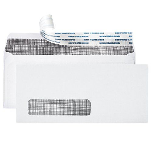 "# 10 Single Window Self Sealing Security Envelopes ~ 500 Invoice & Statement Size Envelopes with Peel & Seal Adhesive + Tinted Interior for Privacy Protection ~ 4-1/8"" x 9-1/2"" Each, by Pinnacle:   <p><b>Want better security, quality & mailing capabilities? These peel-and-seal #10 single window security envelopes look & feel flawless at a perfect stock-up price. Boxed 500-pack.</b></p> <p>Unlike other invoice-size envelopes, your Pinnacle # 10 Single Window Security Envelopes are made ..."