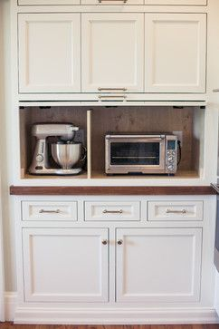 Appliance cabinet idea when i add cabinets to long kitchen for Long kitchen wall units