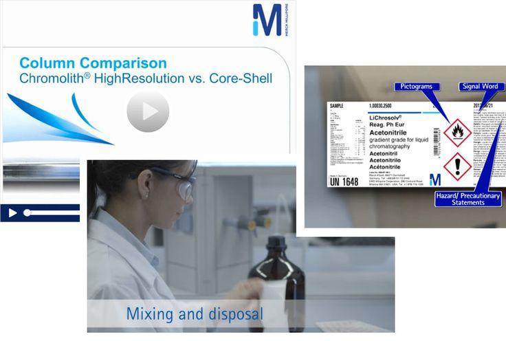 Si usted es un analista científico, el Canal de Video (The Video Chanel) de Merck Millipore está hecho para usted. Aquí tiene acceso gratuito a numerosos videos informativos y webcasts sobre la seguridad del laboratorio, HPLC, TLC, análisis de agua, reactivos de alta calidad y más.