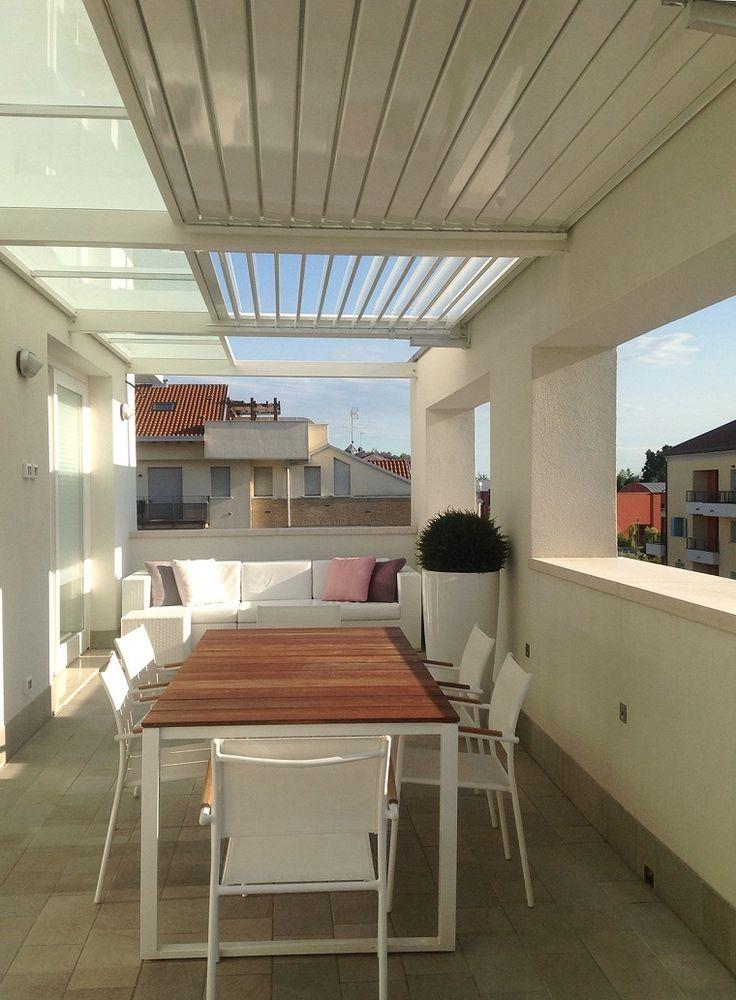 opciones de pérgola en el balcón
