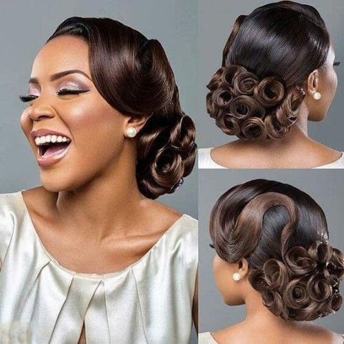 Nigeria Wedding Hair Style: 30+ Enchanting Natural Hair Bun With Weave