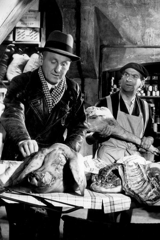 """Bourvil & Louis de Funès dans """"La traversée de paris"""" (Claude Autant-Lara, 1956)"""