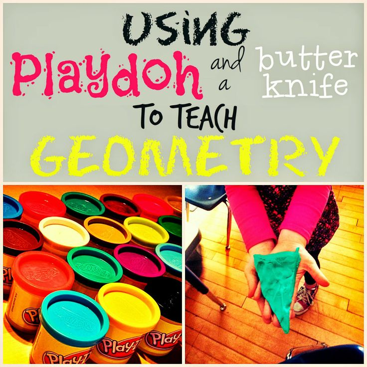 Playdoh + geometry = fun! Bright Ideas Link-up!
