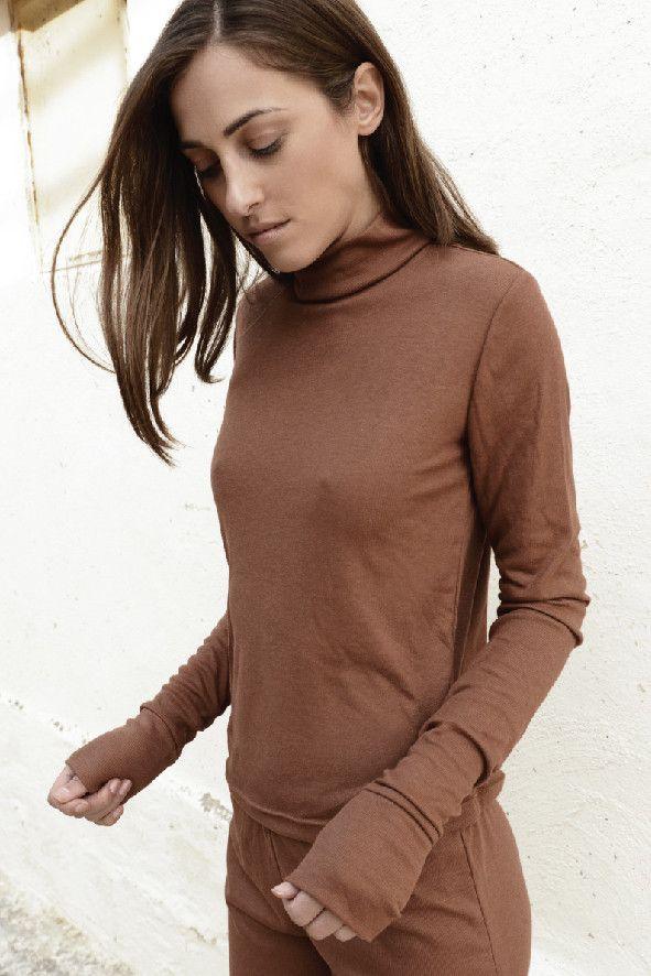 Rib blouse