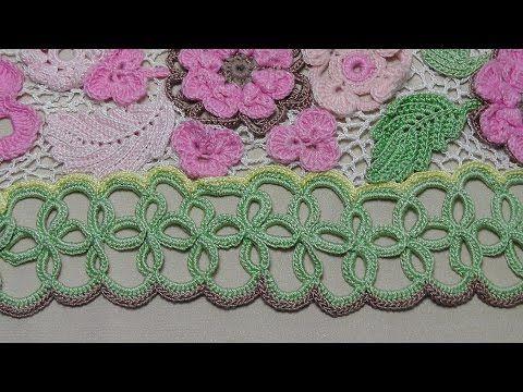 Ленточное кружево для подола платья. Обвязка низа платья- Crochet Lace - YouTube