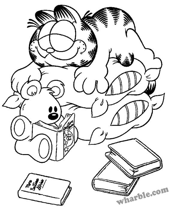 Garfield color page coloring pages for kids cartoon characters coloring pages printable coloring pages color pages kids coloring pages coloring