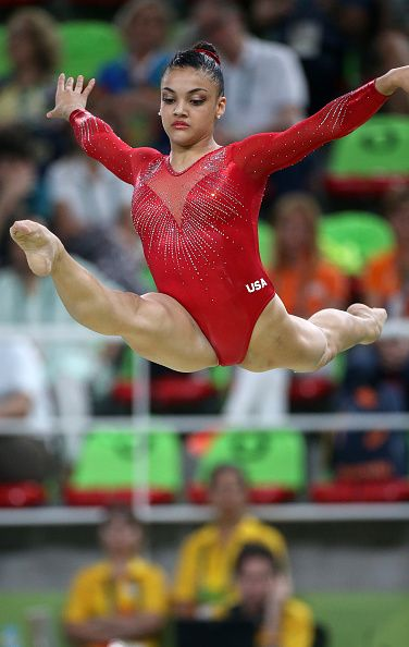 Lauren Hernandez of USA competes in the Women's Balance Beam final on day 10 of…