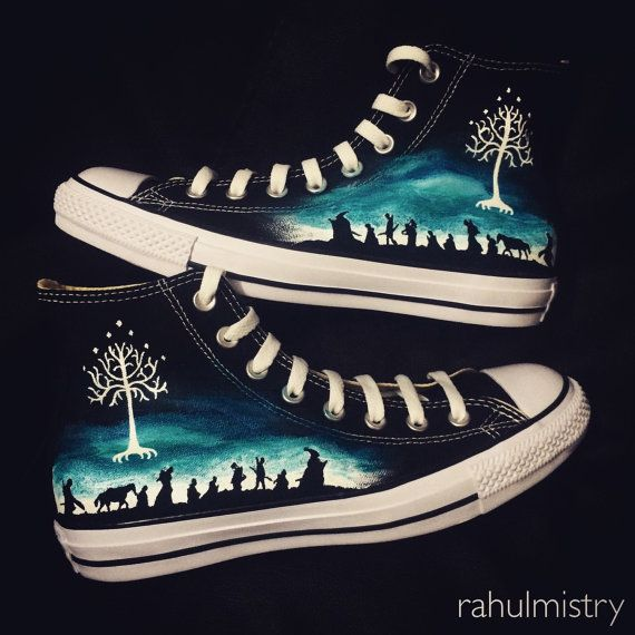 LOTR The Hobbit Custom-Made Converse Sneakers by RahulMistry