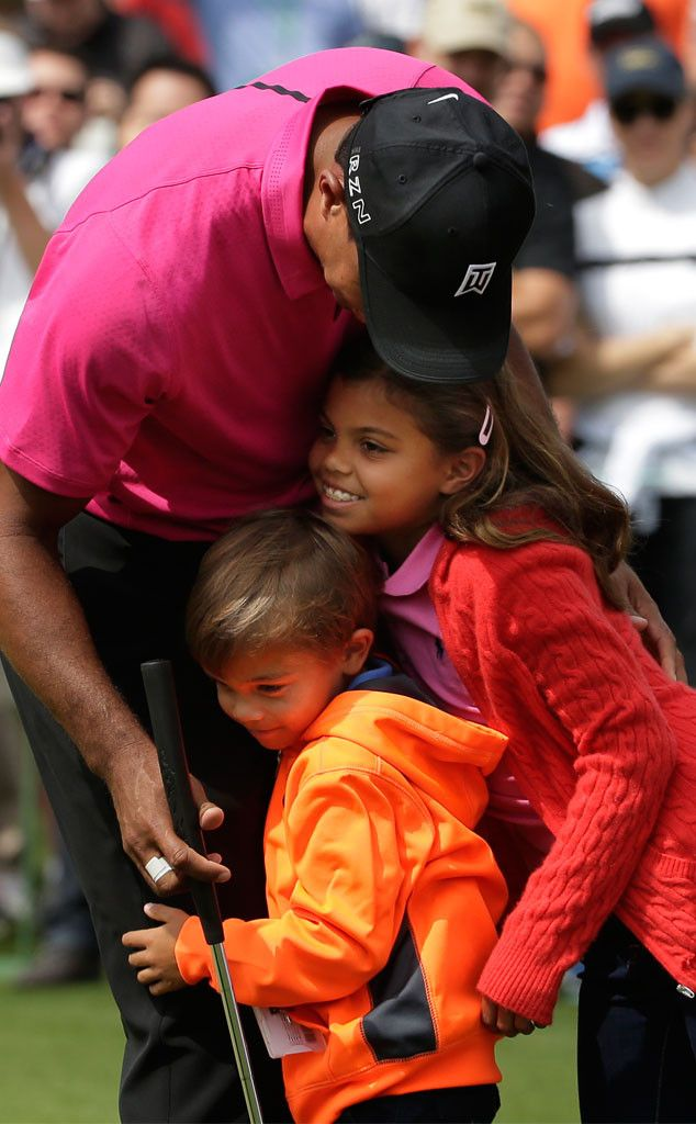 Tiger Woods' Kids and Girlfriend Lindsey Vonn Surprise Golfer During Masters Competition—See the Cute Pics!  Tiger Woods, Charlie Woods, Sam Woods, Lindsey Vonn