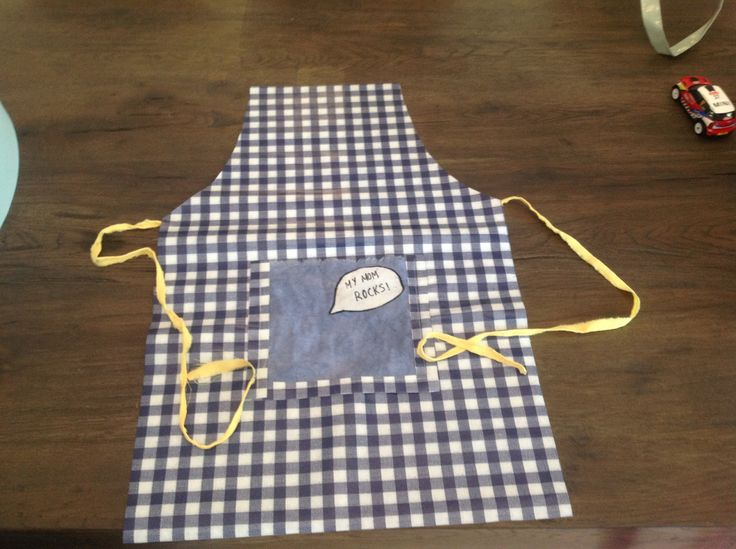 Apron oilcloth Mother's Day