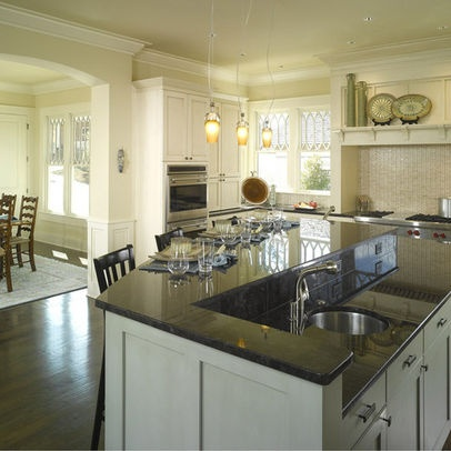 Kitchen designs with 2 level islands photos 4 518 multi for Two level kitchen island
