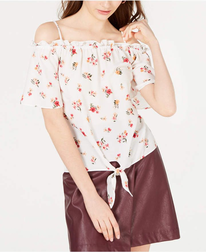ffeff43635810a Hippie Rose Off-The-Shoulder Tie-Hem Top | April 2019 Wishlist in ...