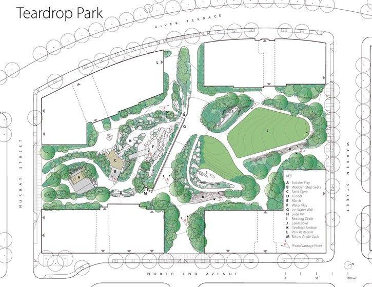 Teardrop Park North Site Plan