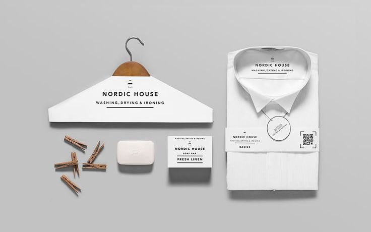 ID design for a dry cleaner by Anagrama