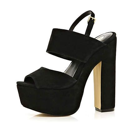 Scale new heights in these fierce black chunky platform sandals #riverisland