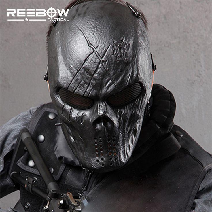 Dios Negro de La Cara Llena Máscara Wargame Táctico al aire libre Airsoft Paintball SWAT Skull Gost Máscaras de Terror de Halloween Cosplay en   de   en AliExpress.com | Alibaba Group