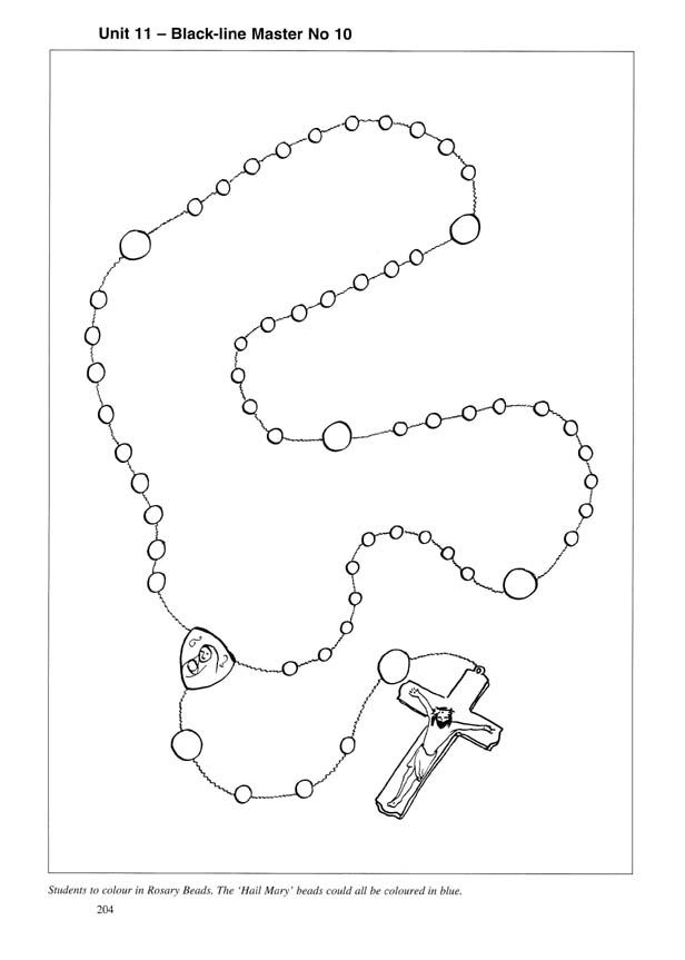 rosary coloring sheet