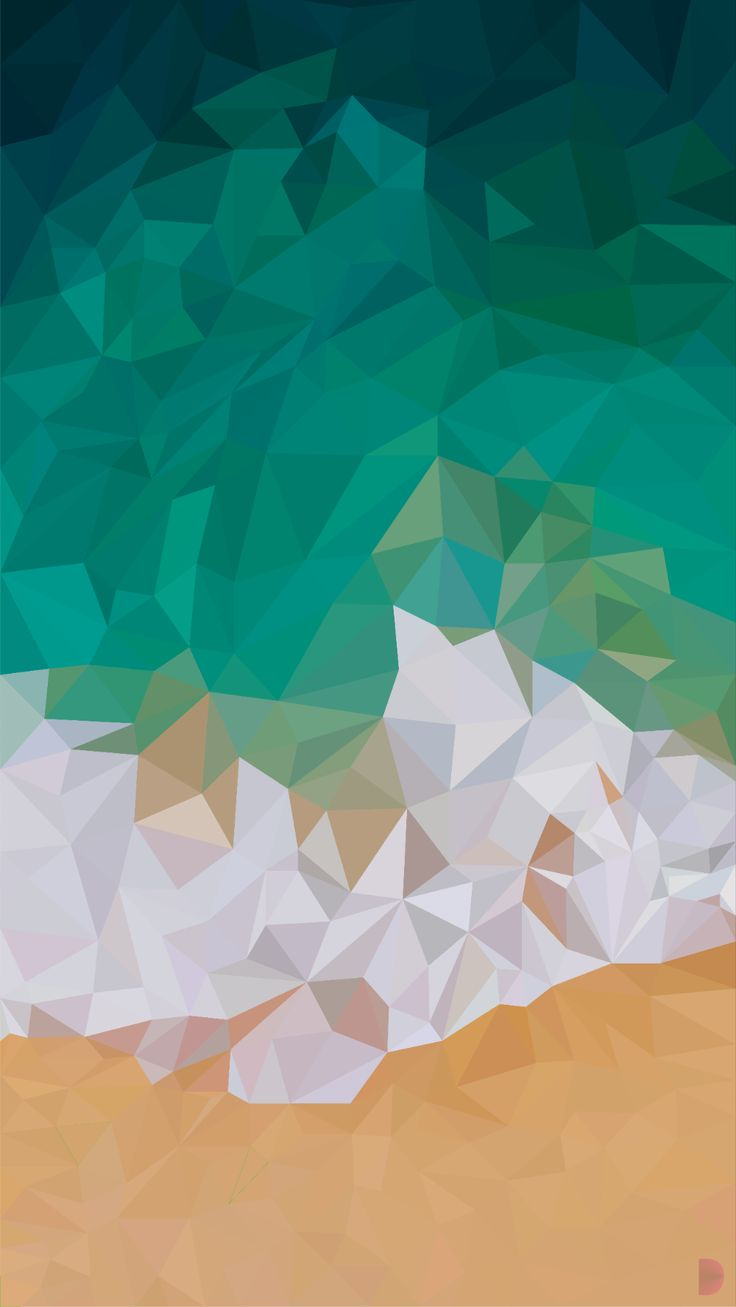 iPhone Wave wallpaper in low poly