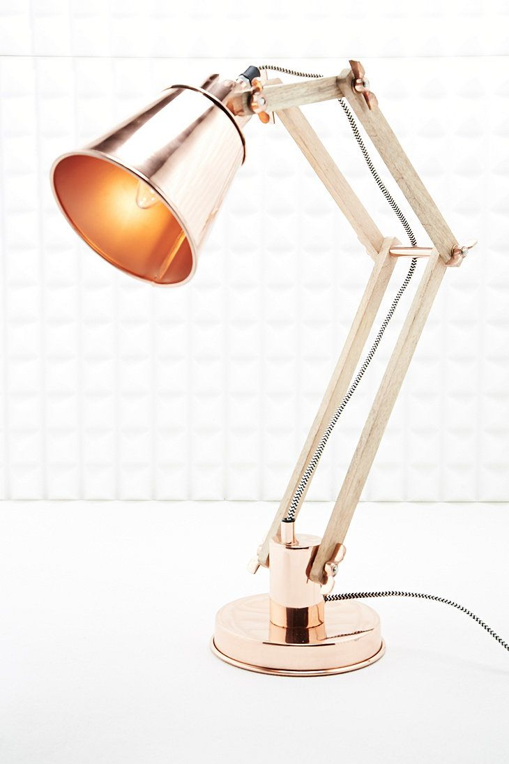Copper table lamp with flexible neck, urban outfitters uk