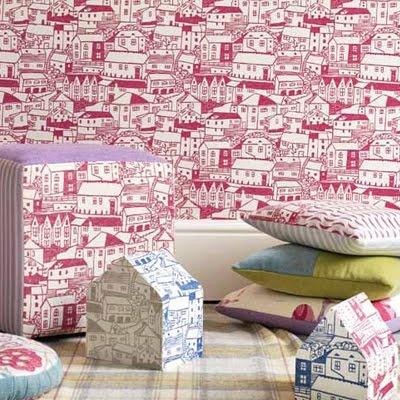 Sanderson fabric houses design