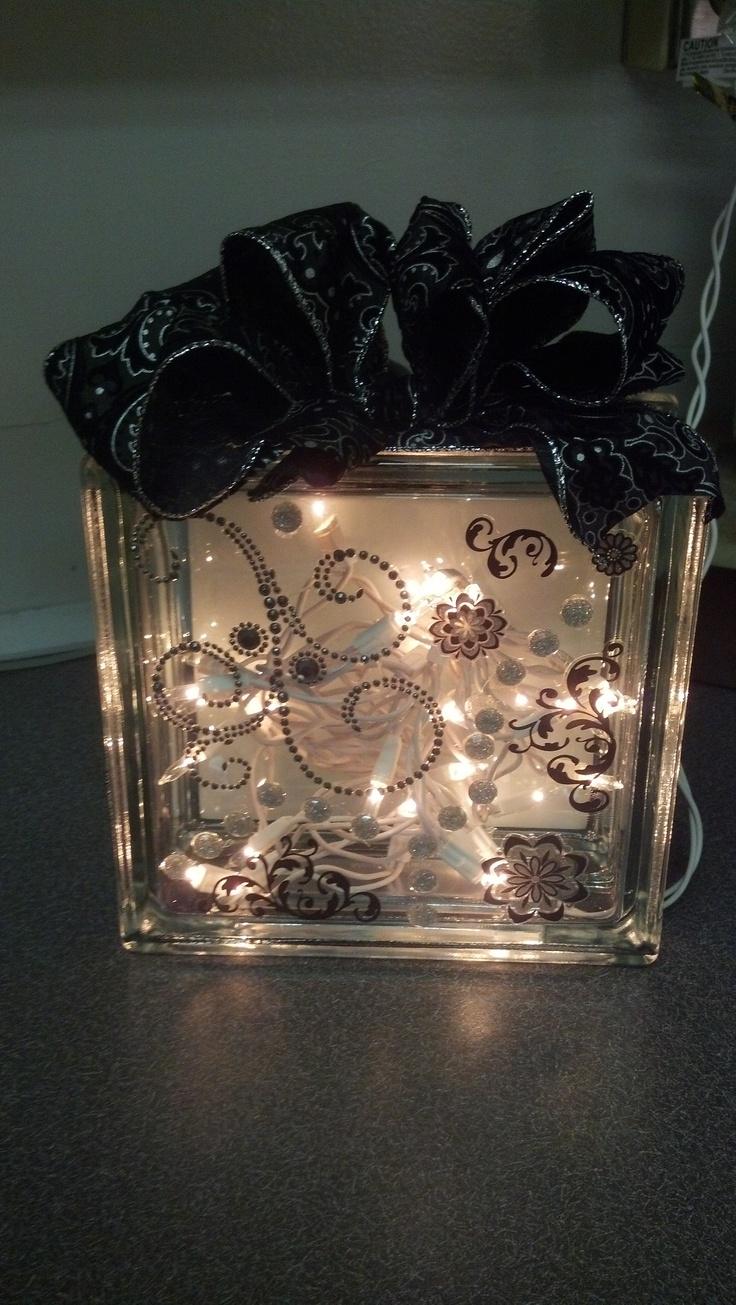 Decorative glass blocks crafts - Glass Block Light