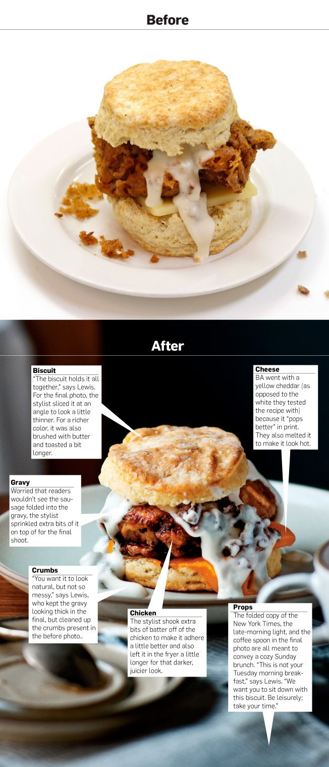 food styling illustration: before & after