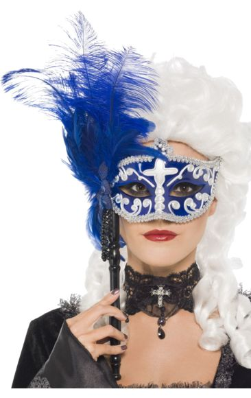 Blue & Silver Masquerade Mask | Jokers Masquerade